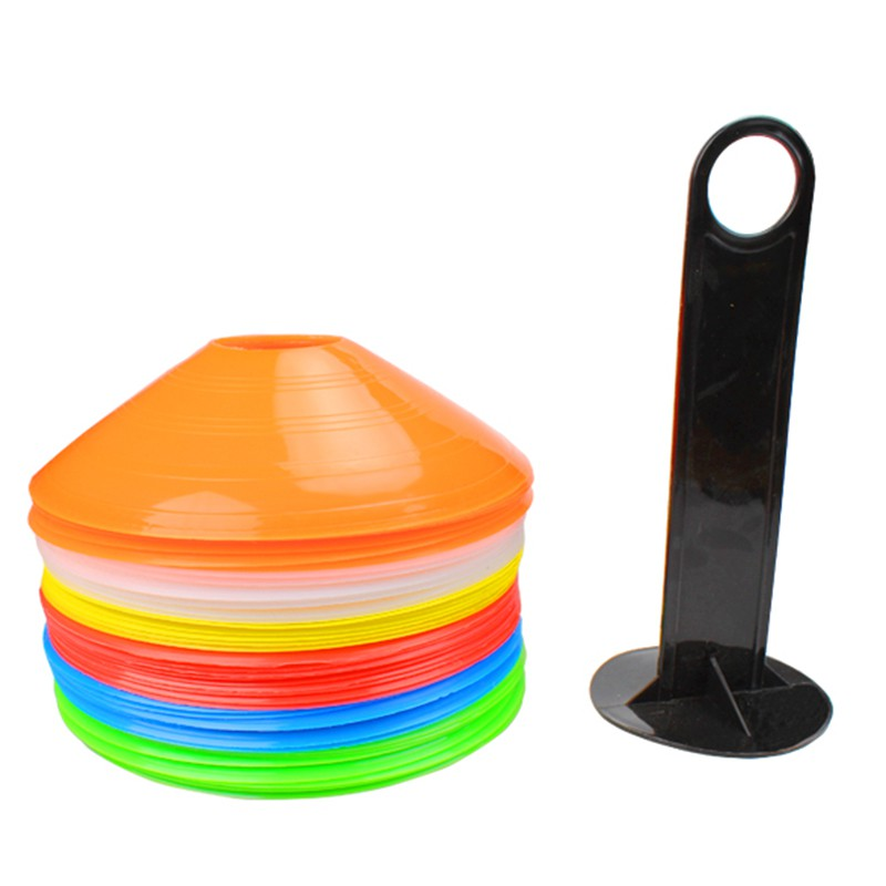 Soft Round Cone Space Marker Football Fitness Training Team Sport KNTR