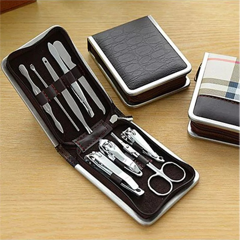 [ READY STOCK ]  Good Quality Professional Stainless Steel Nail Clippers Scissors Kit Manicure Set Jualan Murah Makeup