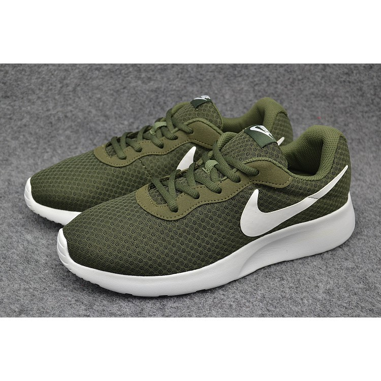 buy popular f2d88 5ac41 Nike Roshe One Women's and Men's Mesh Running Shoes Sneakers Army  green/White