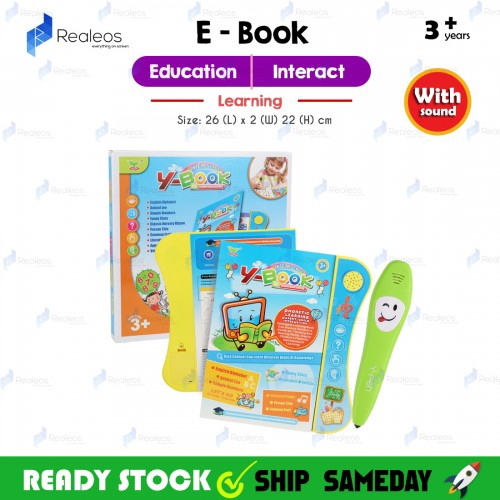 Realeos Y Book + Logic Pen Kids Baby English Learning Ebook Touch Pad - RA32