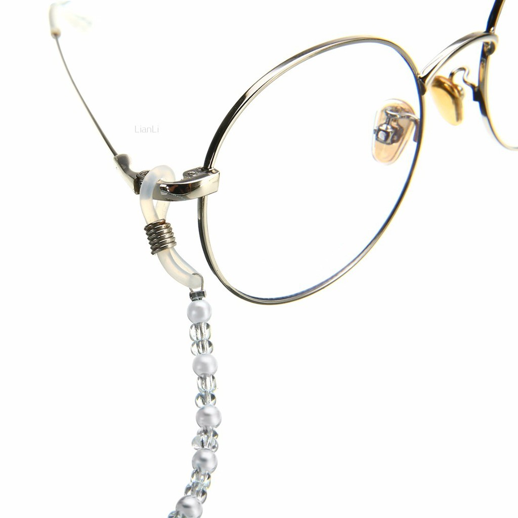 NEW Bright Silver Metal Reading Glasses Spectacle//Sunglasses Curb Chain Strap