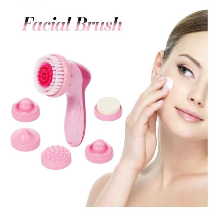MALAYSIA: 6PCS/SET SET BERUS CUCI MUKA Electric Face Facial Brush Cleansing Spa