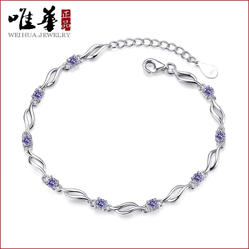 Korean Fashion Ocean Heart Accessory Crystal Bracelet Women Charm Jewelry HUA