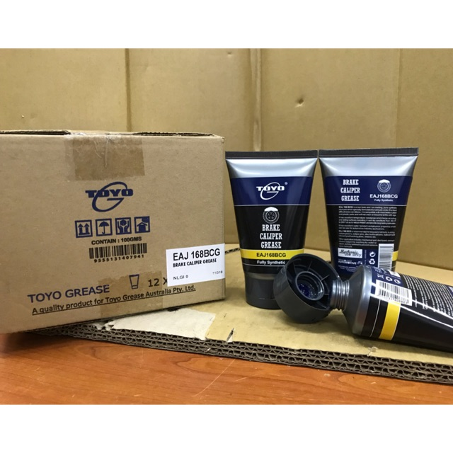 TOYO BRAKE CALIPER RUBBER GREASE 100gm 《BLUE COLOUR》FULLY SYNTHETIC