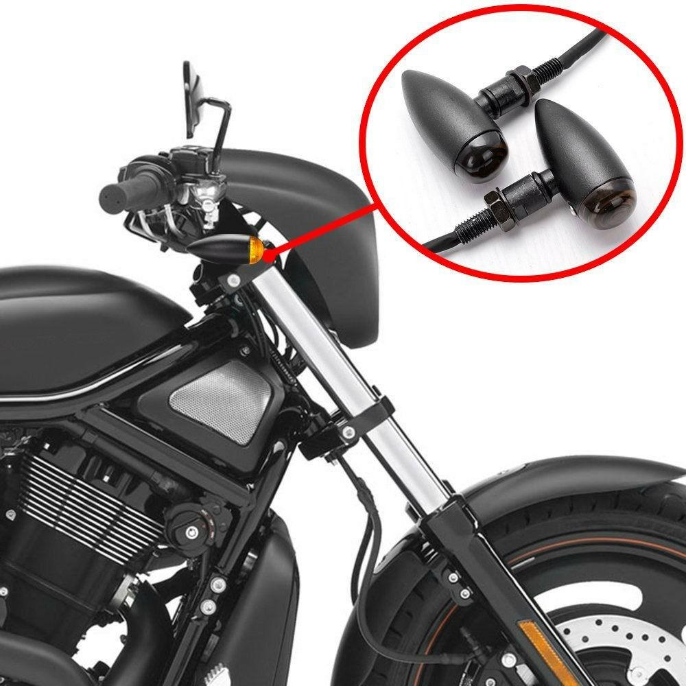 4x Motorcycle Bullet Blinker Turn Signal Light for Harley Bobber Chopper Cruiser