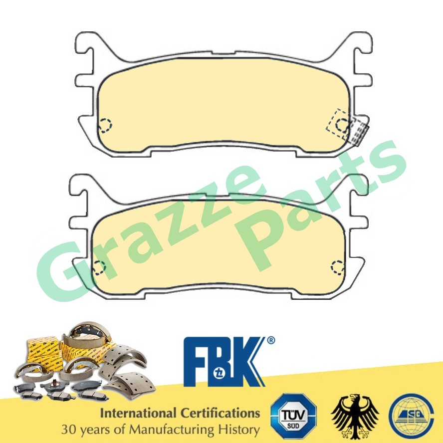 FBK Disc Brake Pad Front for FD3097S Mazda Lantis 1.6 MX5 2D93