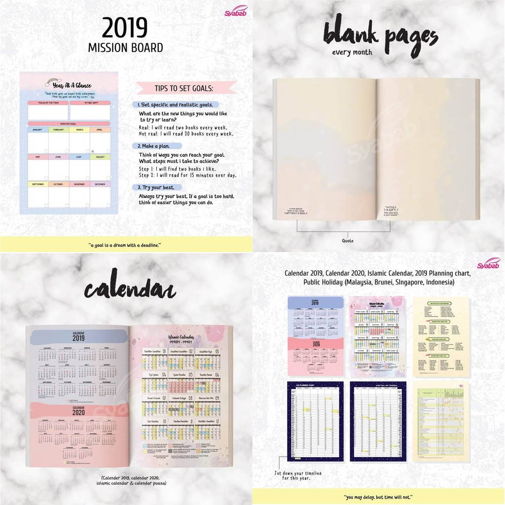 Ready Stock - Islamic Planner 2019 (3 Free Gifts) | Shopee