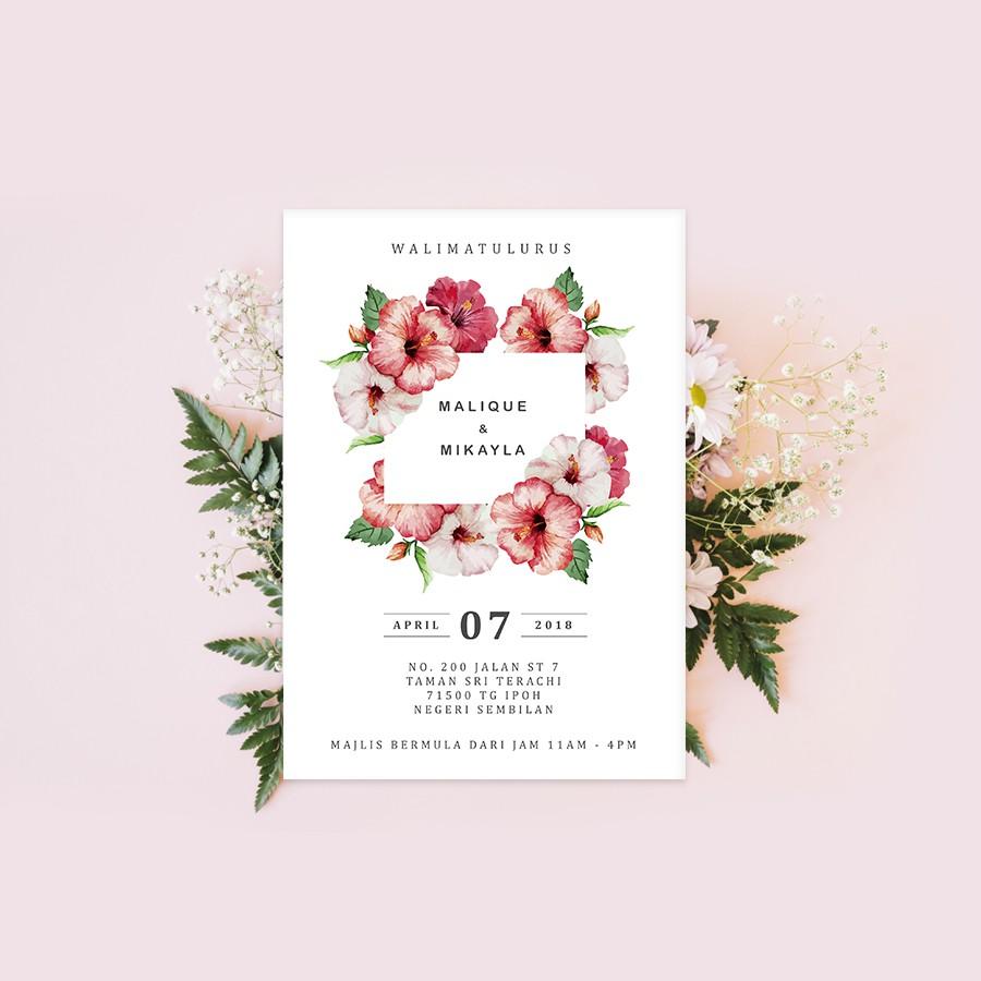 Softcopy Upah Design Kad Kahwin Wedding Invitation Card 01 Graphic Design Services Shopee Malaysia