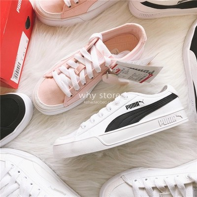 low priced 41607 fdff8 2019 new arrival Puma SMASH V2 VULC CV canvas shoes sneakers pink women lady