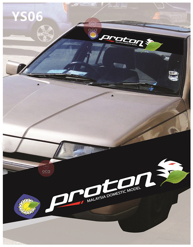 Universal Car Windscreen Sticker Front Or Rear Windscreen Windshield 10inch X 52inch YS1 - YS9