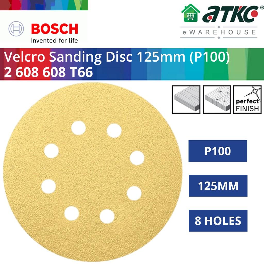 BOSCH Velcro Sanding Disc (Kertas Pasir Bulat) Sandpaper 125MM (D) x 8 Holes - (1PC)