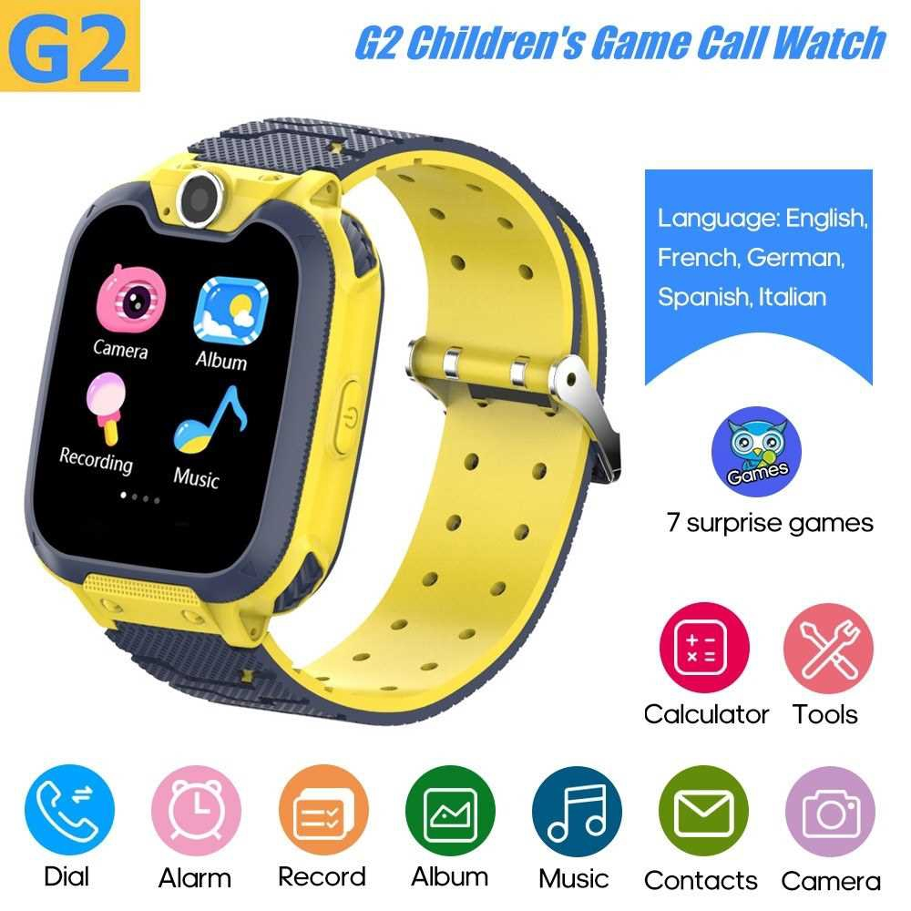G2 Intelligent Kids Watch Children Smartwatch Built-in 7 Children Puzzle Games Phone Watch Built-in 5 Languages(English