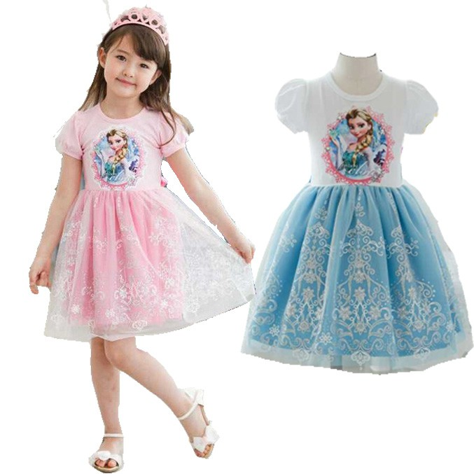 b306ab8514e9 Summer Tutu Dress Kids Girl LOL Surprise Doll Cartoon Dress Casual ...