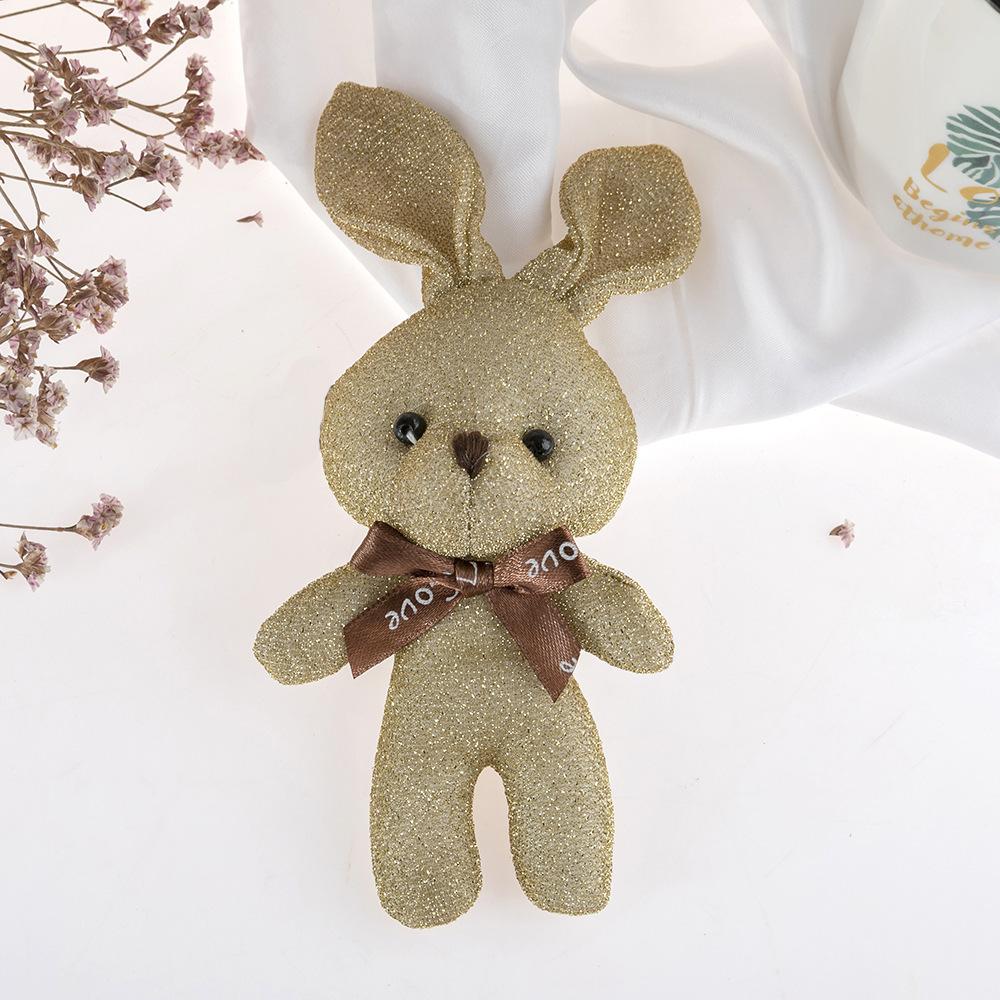 Mini Rabbit Bunny Keychain Plush Bag Gift Valentine Decoration Patung Keychain Rabbit Anak Patung Perempuan- RE77