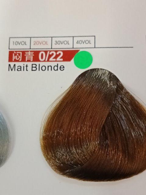 Fabaole color (Mait Blonde. 闷青.0/22) 100ml foc peroxide cream 100ml (Mait Blonde. 闷青.0/22)