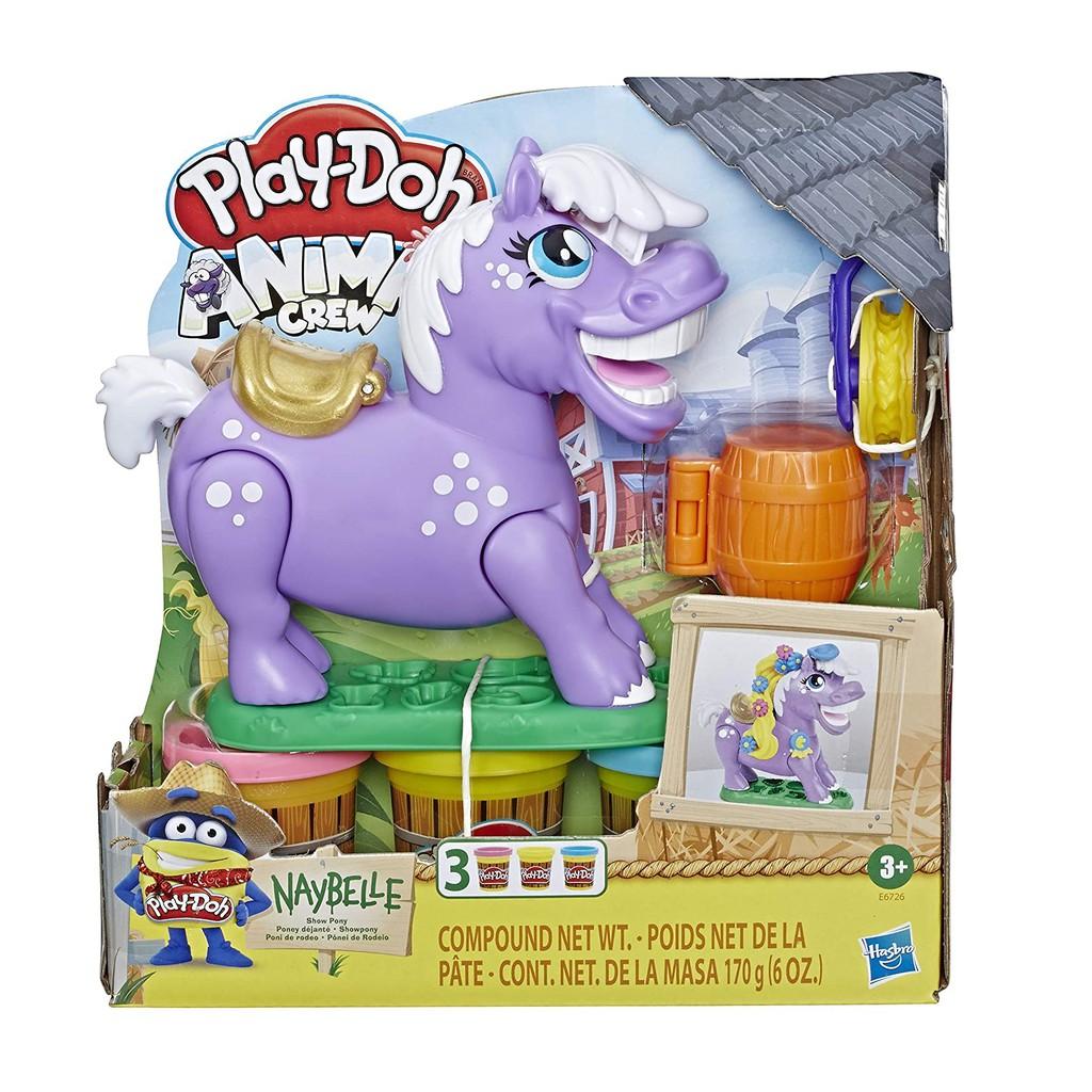 Play-Doh Animal Crew Naybelle Show Pony Farm Playset