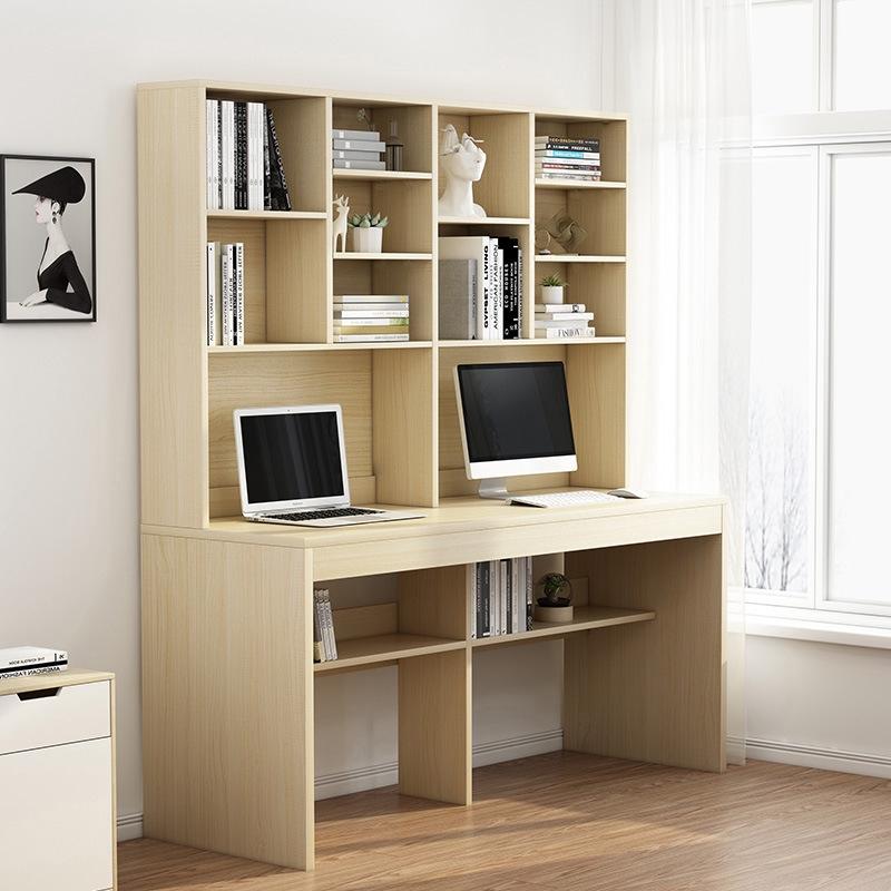 Desk Bookcase Combination Double