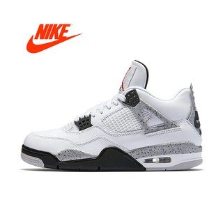 48408ea93e344 Official Original Nike Air Jordan 4 OG AJ4 White Cement Men's ...
