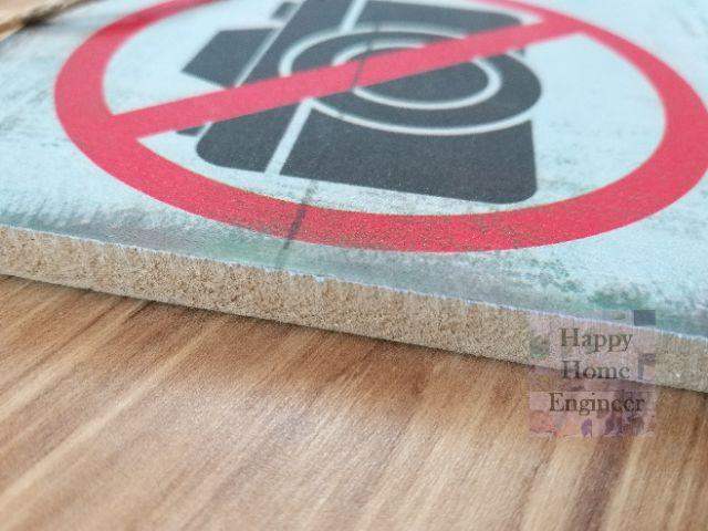 26x15cm No Smoking Hanging Sign Rustic effect