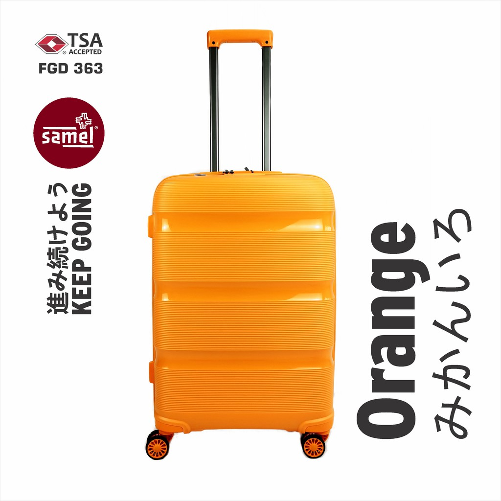 """2 IN 1 SET FGD 363 JAPANESES CONCEPT EXPANDABLE ANTI THEFT ZIPPER PP LUGGAGE 20"""" + 28"""""""