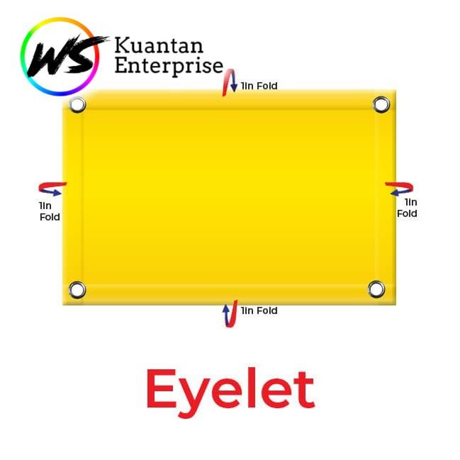 【100% Fast Delivery】Banner Printing / Bunting Printing Harga Kilang / 24 JAM PRINTING (Eyelet / PVC)