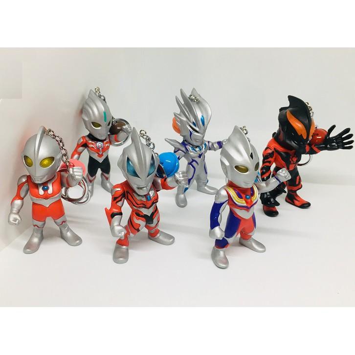 Ultraman Keychain (Petite Style) Ultraman Tiga/ Belial/ Orb/ Jackal/ 80/ Zero