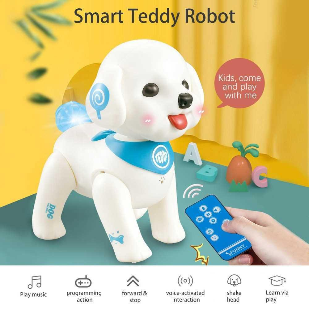 K19 RC Robot Puppy Robotic Dog Voice Control Program Sing Shake Head Interactive Pet Dog Toy (Standard)