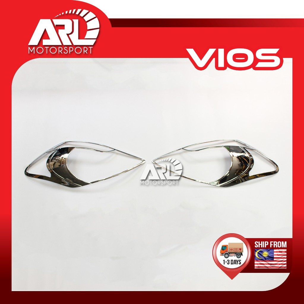 Toyota Vios (2007-2012) NCP93 Head Light Lamp Cover Chrome Car Auto Acccessories ARL Motorsport