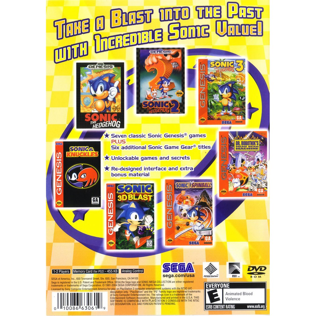 PS2 Game Sonic Mega Collection Plus, English version, Action Game/ Multi 13 in 1 Games