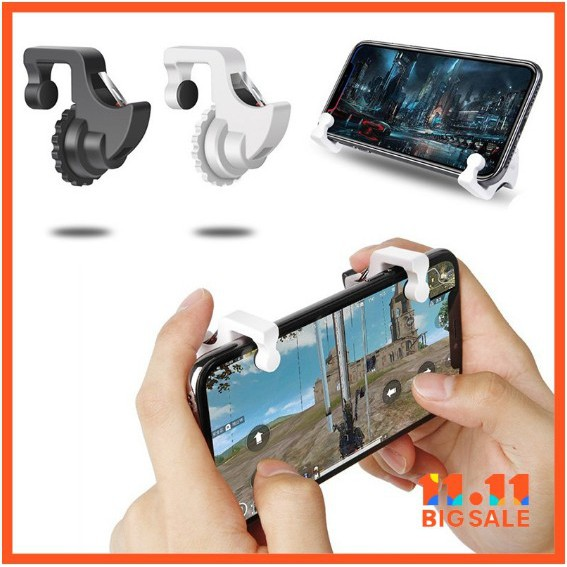 Car Electronics & Accessories W6 Tranparent Mobile Phone Shooting Game Assistive Controller Phone Shooter Tri Accessories