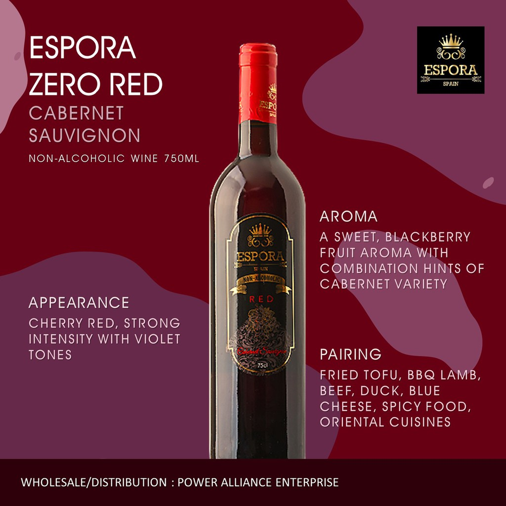 Espora Zero Red Cabernet Sauvignon Shopee Malaysia