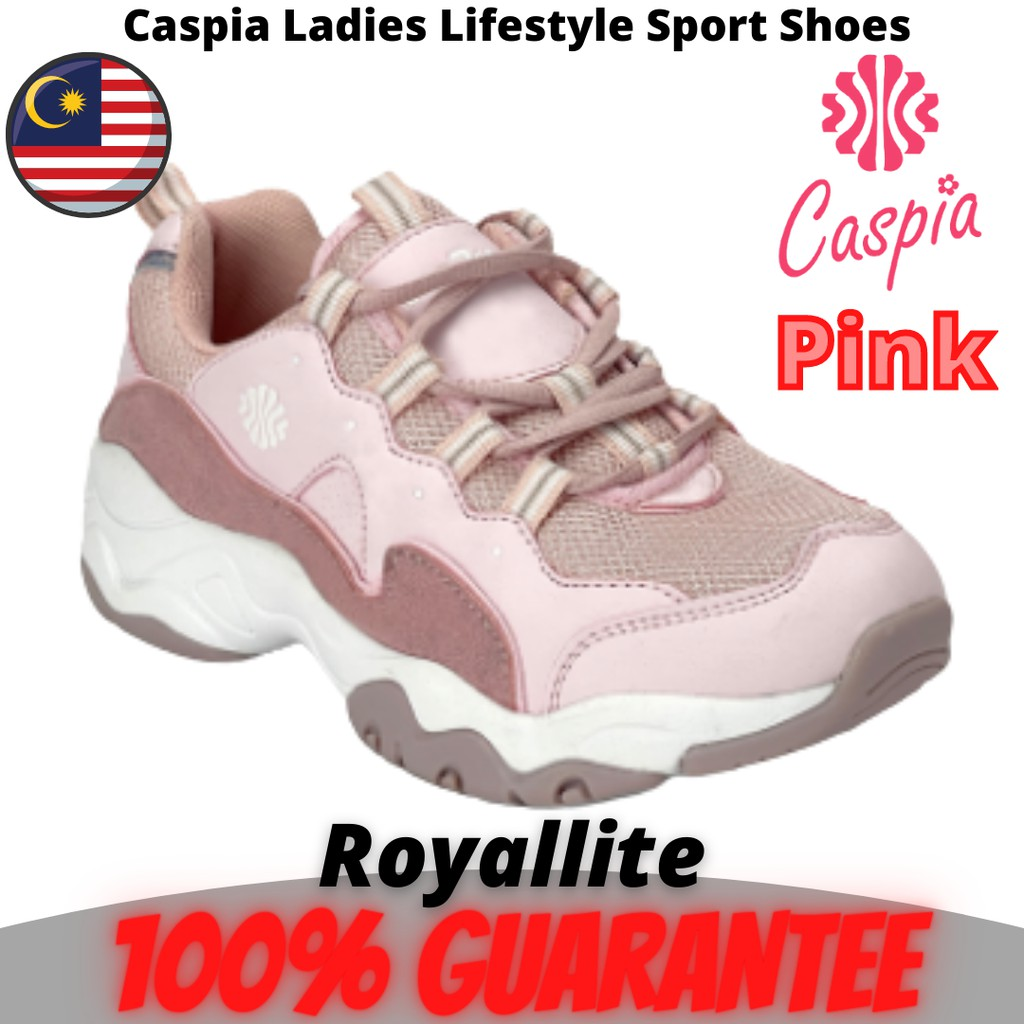 CASPIA LADIES Lifestyle SPORT SHOES THICK FOOT (CJS030-203) Black & Pink