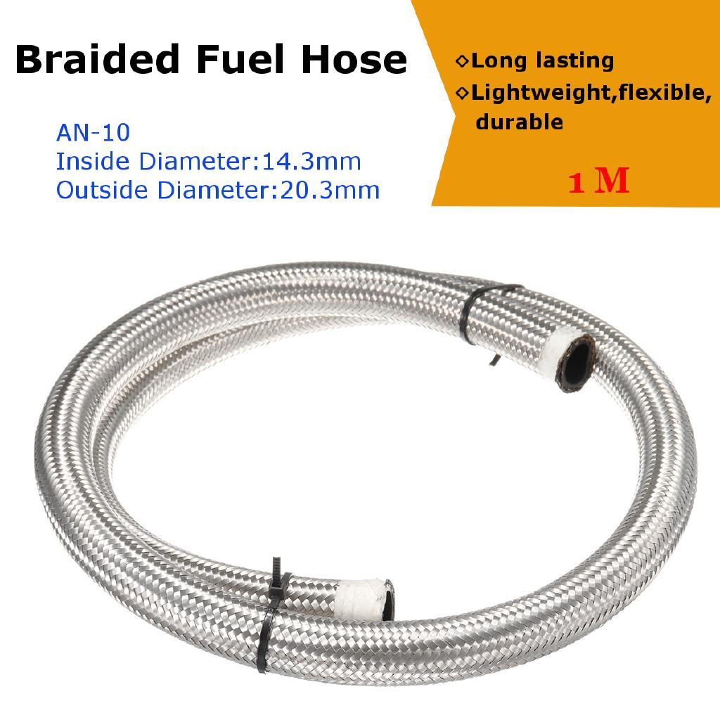 Pro Hose Universal Straight Grey Coolant /& Air Hose 1m Length