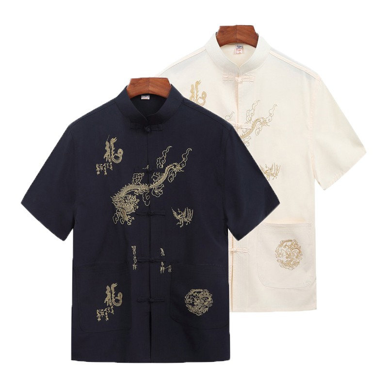 11c9678e0c Men s Cotton Traditional Chinese Tang Suit Shirt clothing Kung Fu Uniform