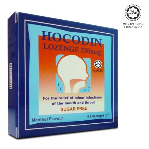 Hocodin Lozenge 250mcg 12\'s