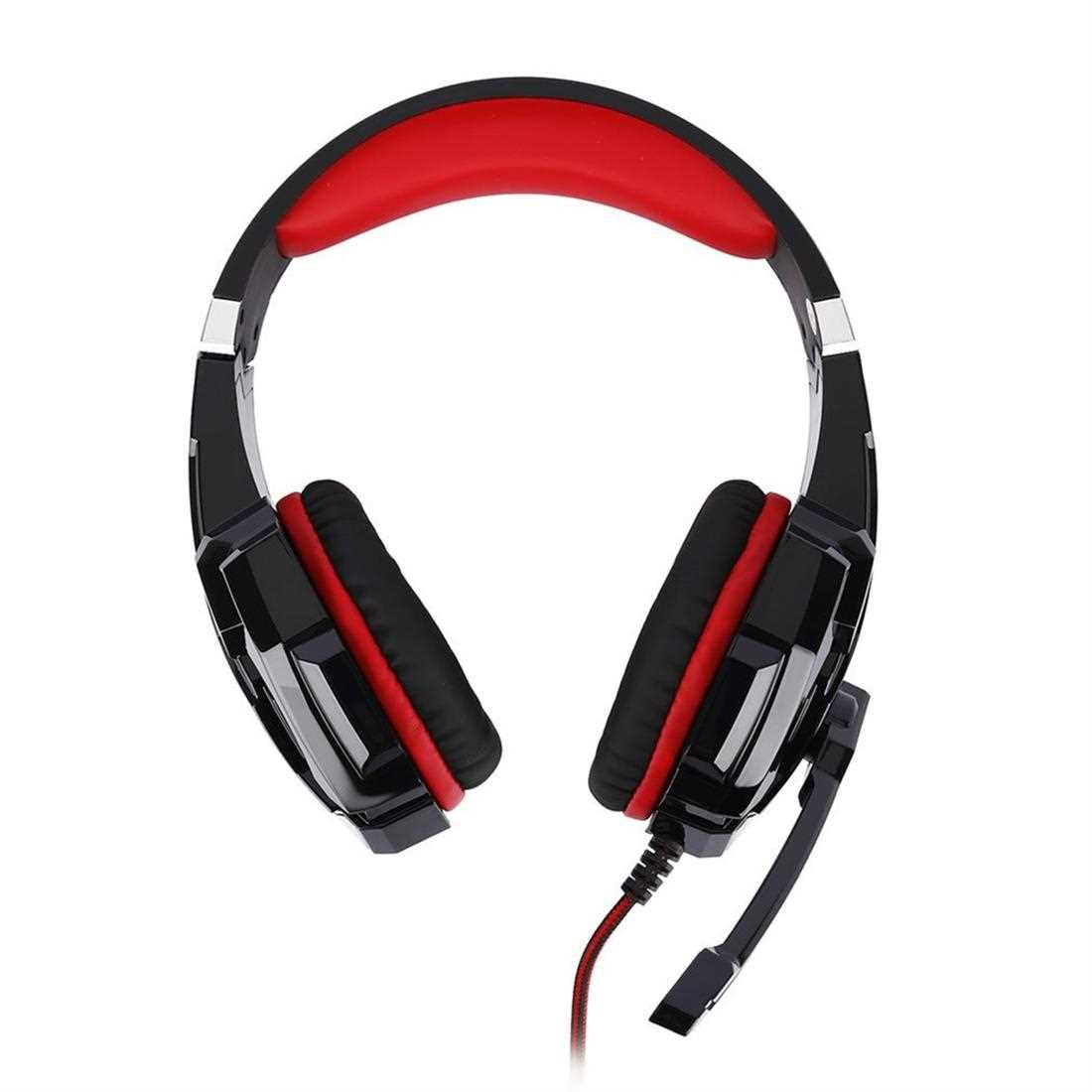 G9000 Over-Ear Gaming Headset 3.5mm Game Headphone Earphone With Microphone (Black+Red)