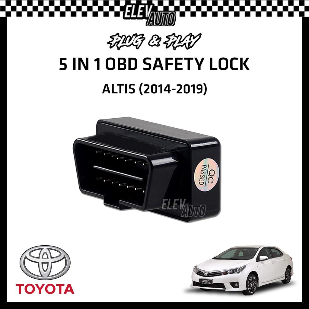Toyota Altis (2014-2019) OBD Safety Lock (5 in 1)