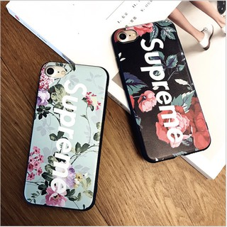 discount sale 10b13 2c0eb Supreme Floral Phone Case Soft Cover for iPhone 6/6s 5 /5s/SE /7/8 7P 8P X