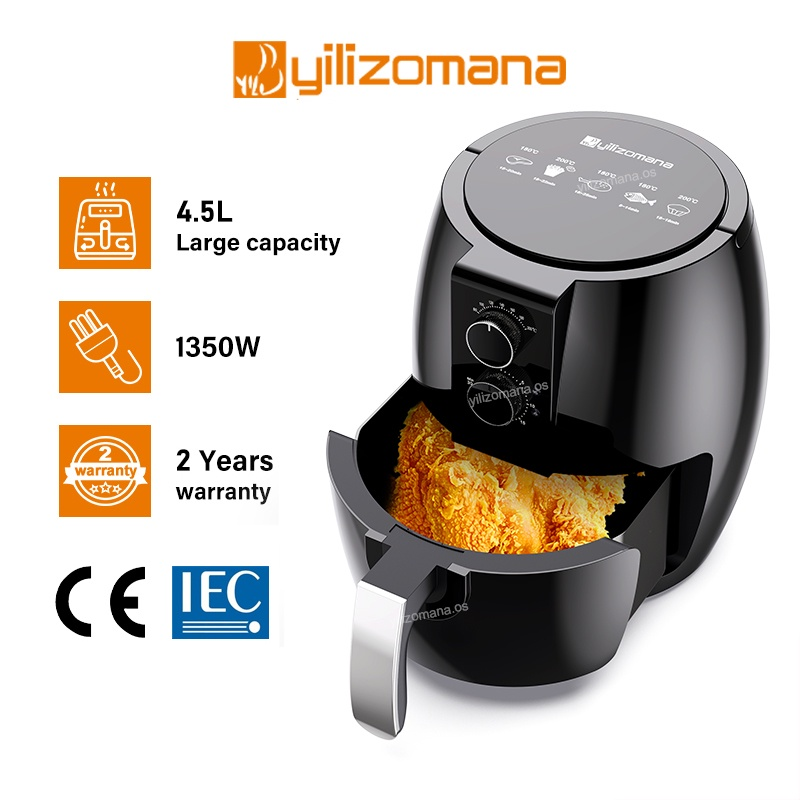 Air Fryer - Automatic Oil Free Electric Household Fries Machine Non Stick Fry Tools (4.5 L)