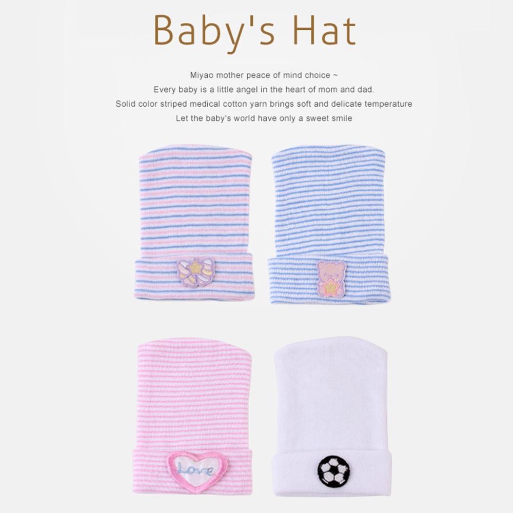 Soft Baby Boy Girl Hat Infant Striped Fetal Hospital Cap Turban Newborn Headwrap