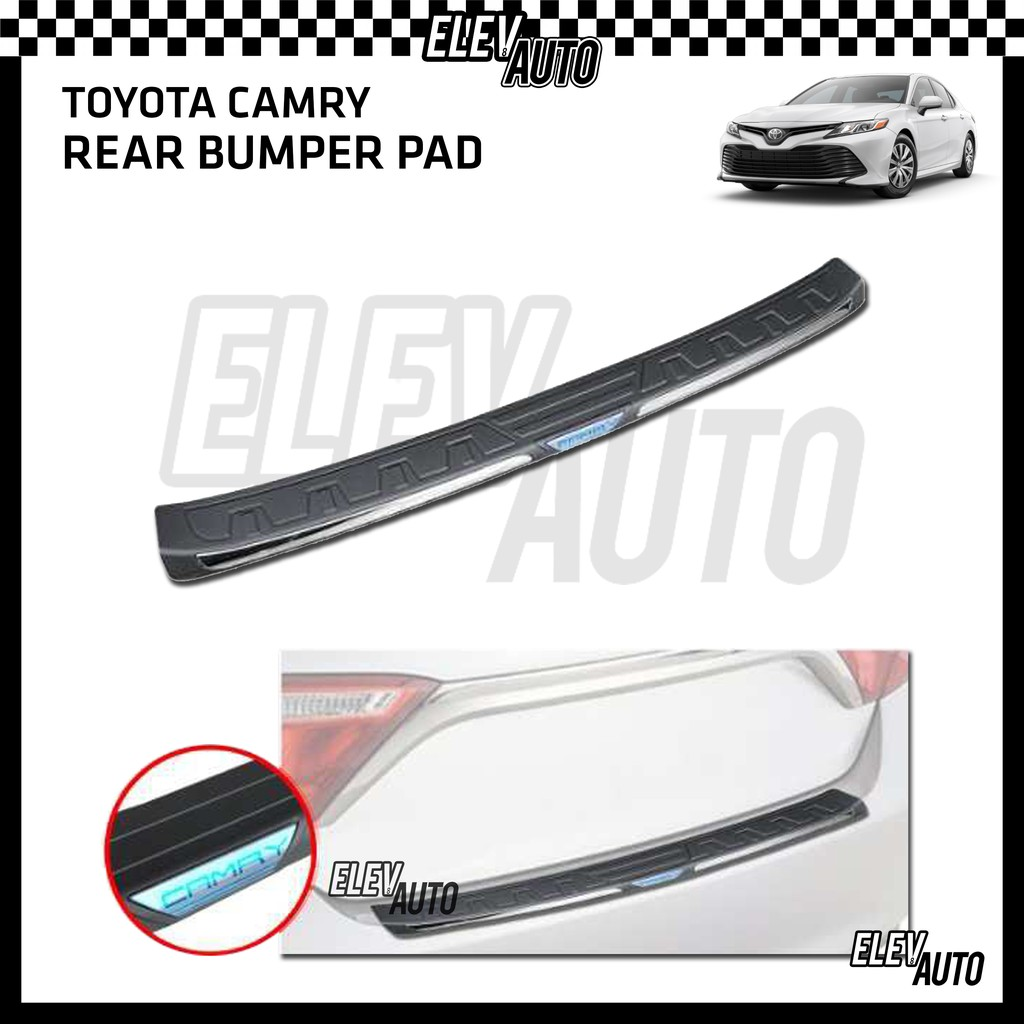 Toyota Camry 2019-2021 Premium Bumper Guard Bumper Pad with Chrome Lining
