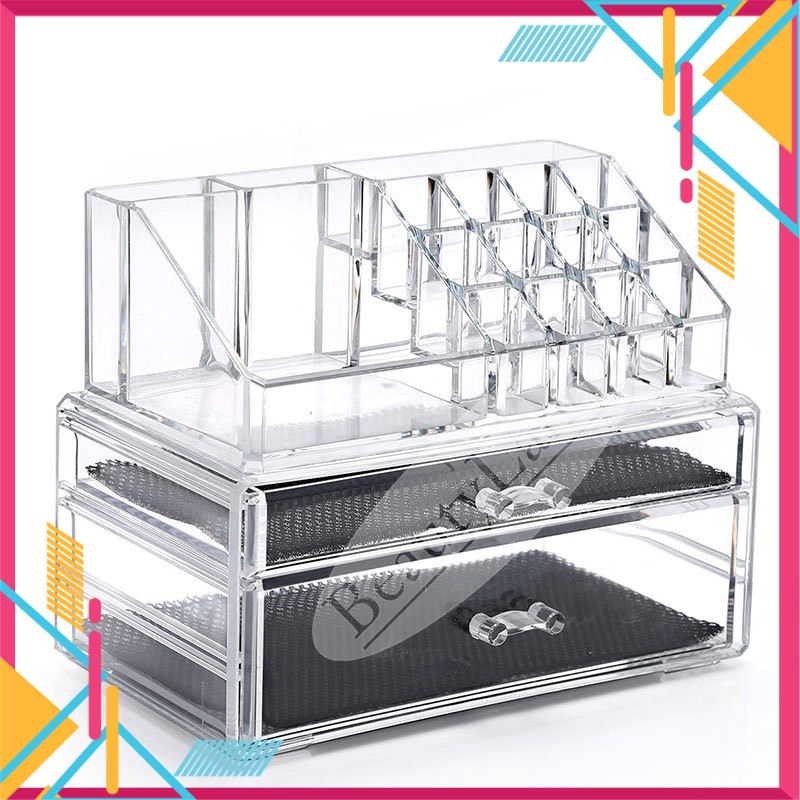 BeautyLand 2 Big Drawers Acrylic Cosmetic Organizer