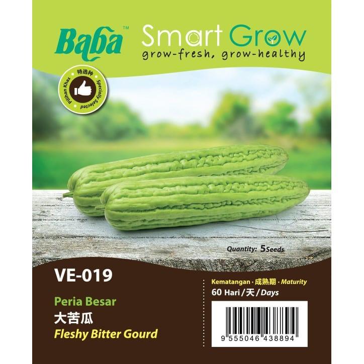 [IGL] BABA SMART GROW SEEDS / BIJI BENIH / VE-019 FLESHY BITTER GOURD @ PERIA BESAR