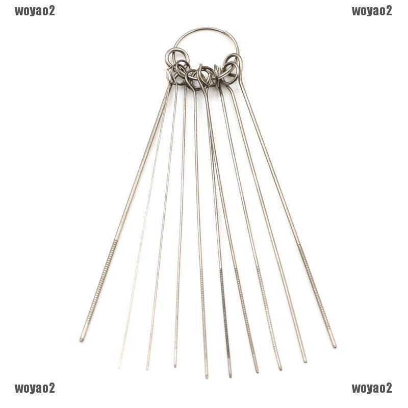 10pcs//set Metal Welding Torch Tip Cleaner Dust Remover Set Plastic