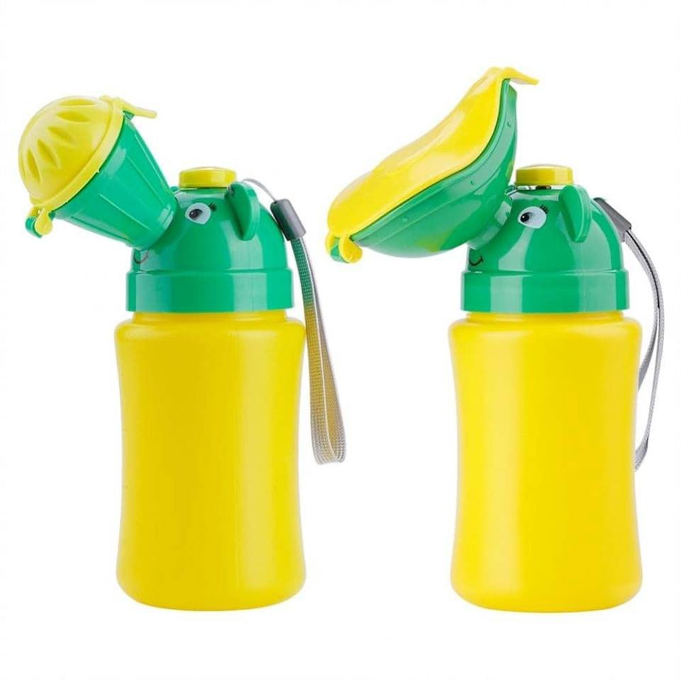 Baby Portable Urinal Travel Car Toilet Kids Vehicular Potty Yellow For Boy SW