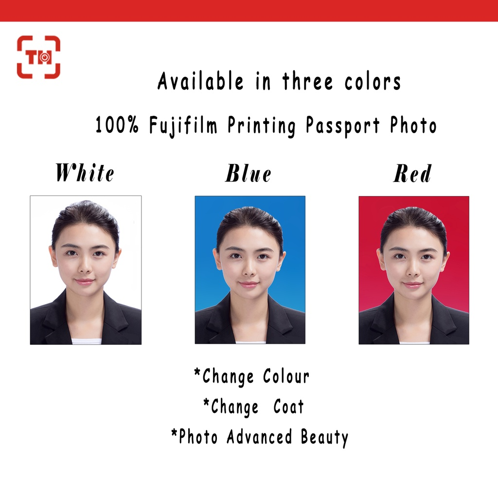 Passport photo 护照/ Driving license photo printing /Digital photo printing fujifilm/Add on coat