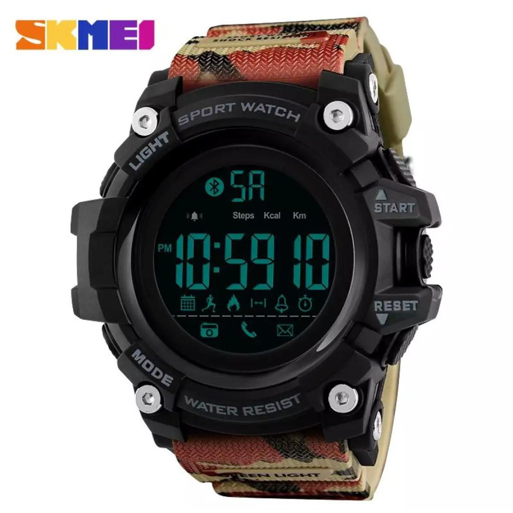 [Local Seller With Gift Box ]SKMEI 1385 Bluetooth Sport Smart Watch