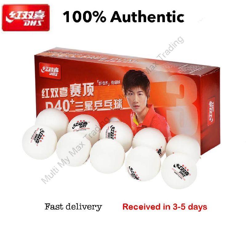 3 ITTF World Tour Table Tennis Balls DHS D40