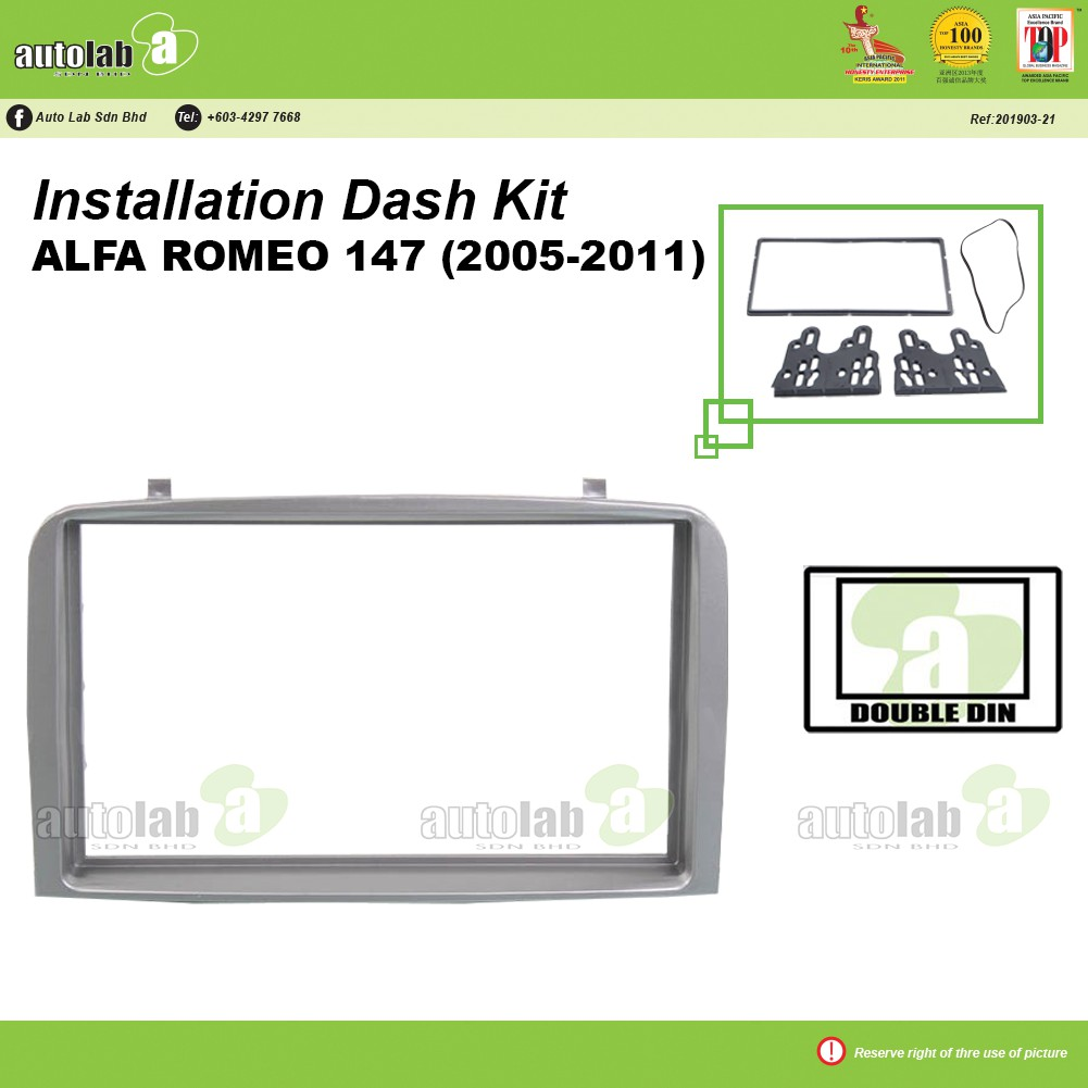 Player Casing Double Din Alfa Romeo 147 2005-2011