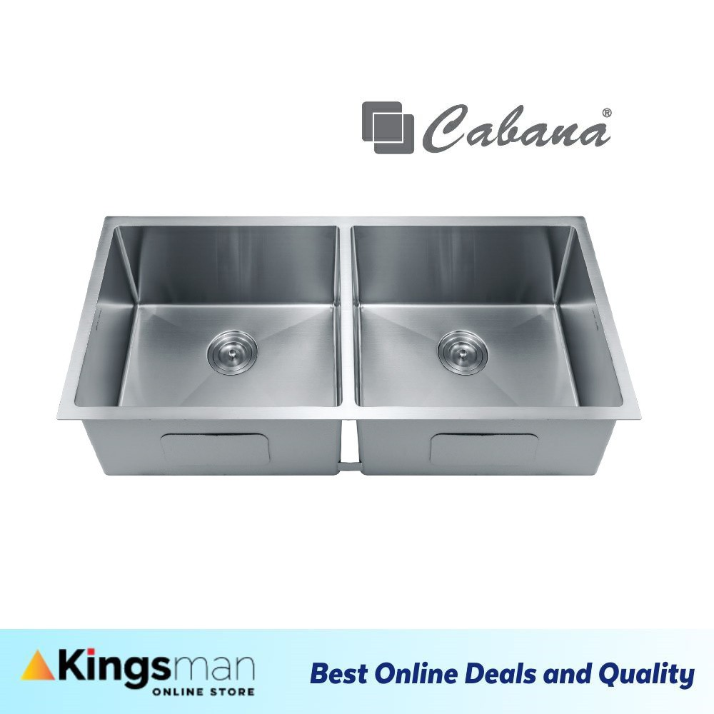 [Kingsman] Cabana Undermount Stainless Steel Home Living Kitchen Sink Double Bowl Ready Stock - CKS6303